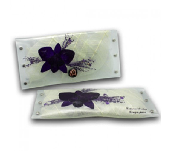 Preserved Orchid Purse Long