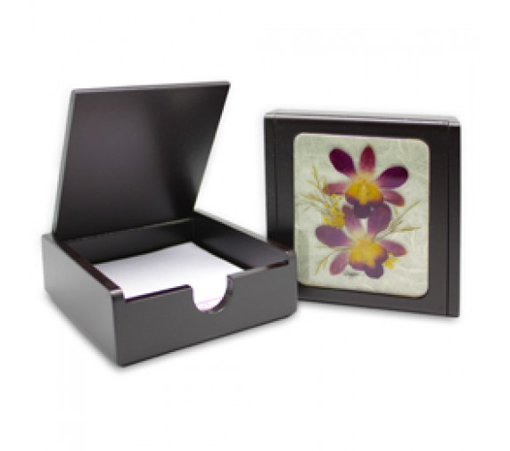 Pressed Orchid Memo Holder