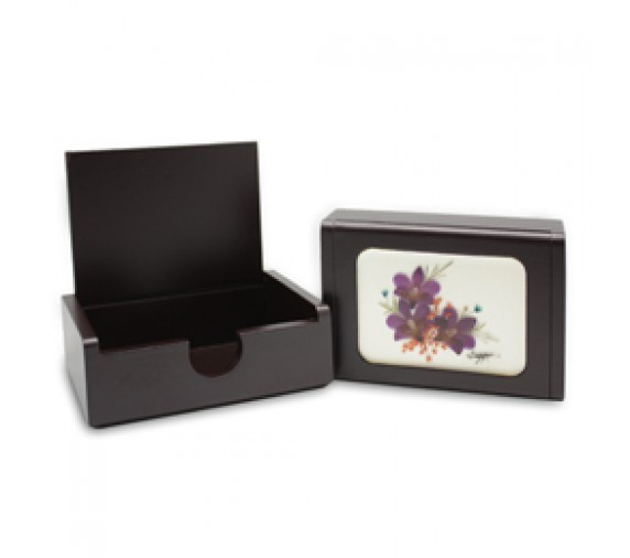 Pressed Orchid Card Holder