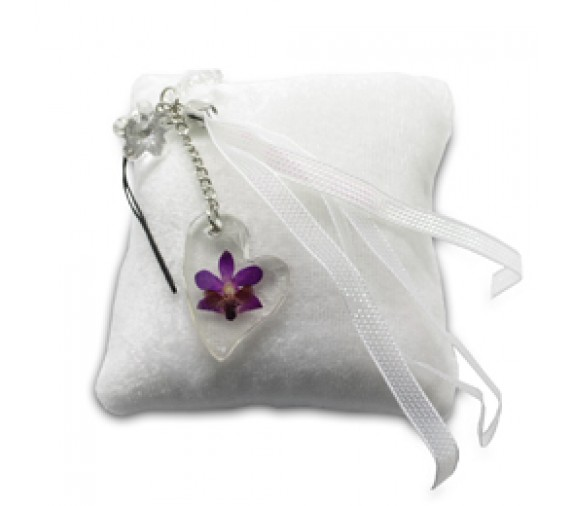 Pressed Orchid Mobile Strap - Love
