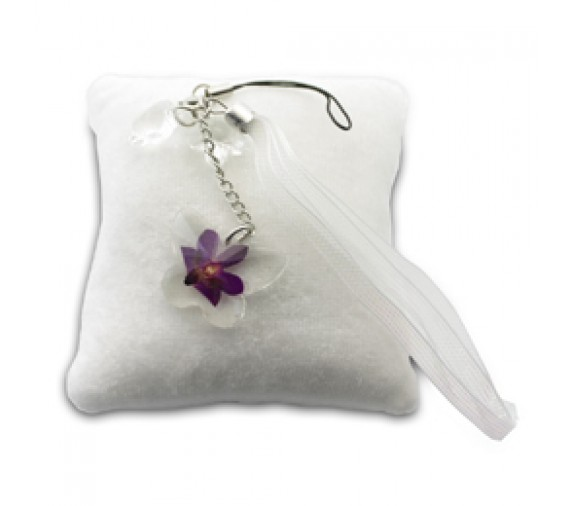 Pressed Orchid Mobile Strap - Butterfly