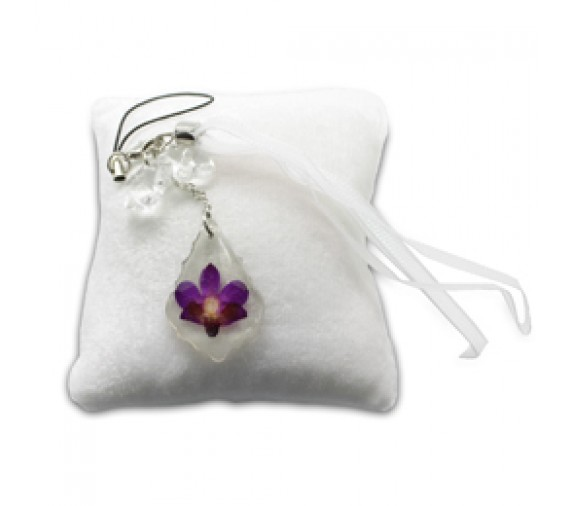 Pressed Orchid Mobile Strap - Crest