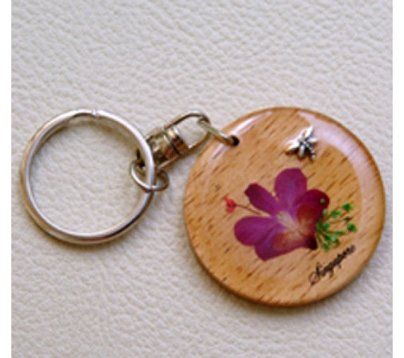 Keychain Orchid - Love W Merlion
