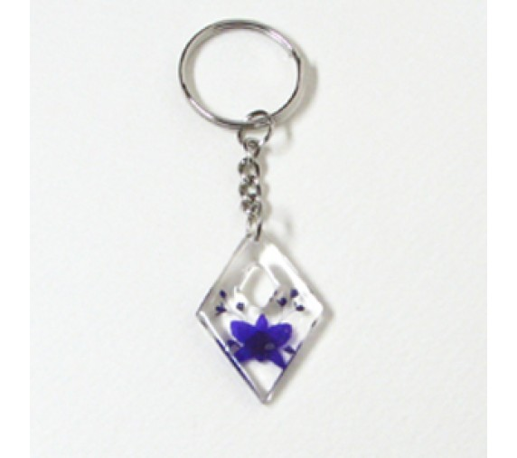 Pressed Orchid Keychain