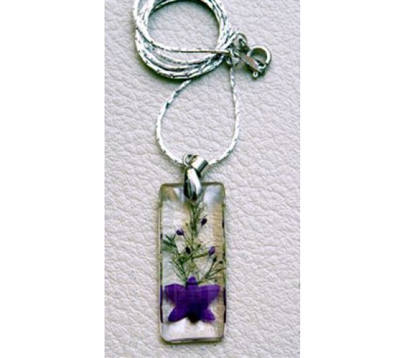 Orchid Pendant - Rectangle