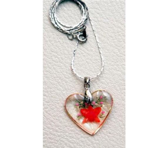 Orchid Pendant - Heart