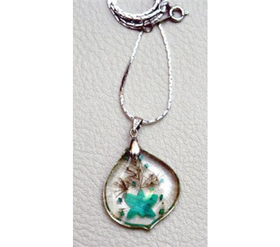 Orchid Pendant - Tear Drop