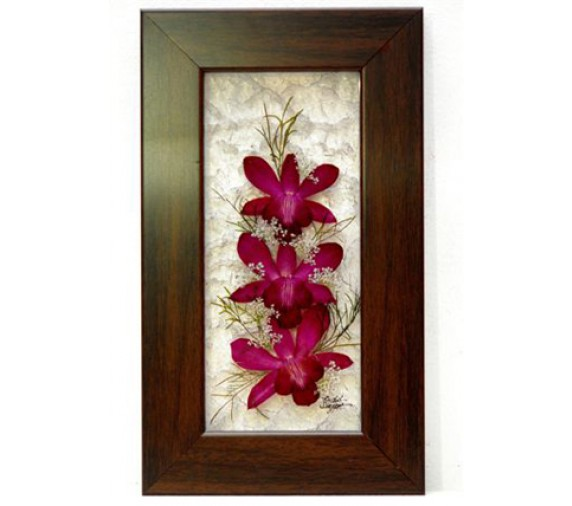 "Pressed Orchid Acrylic Frame 5""X9"""