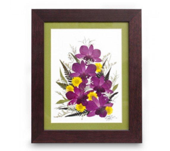 "Pressed Orchid Frame 8""X10"""