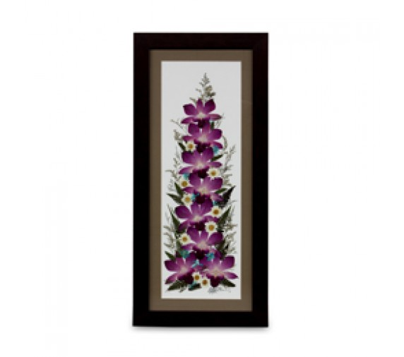 """Pressed Orchid Frame 8""""X20"""""""