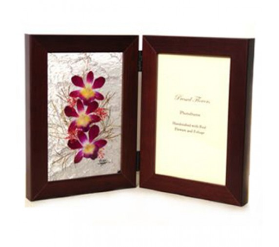 Pressed Orchid Twin Photo Frame 4R