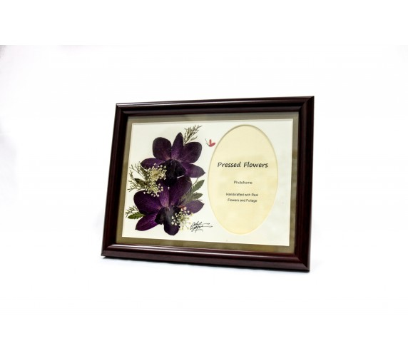 "Pressed Orchid Photo Frame 6""X 8"" H&V"