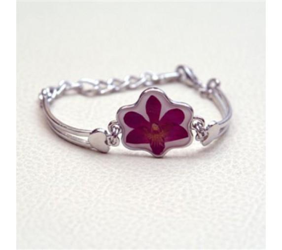 Pressed Orchid Bracelet Flower