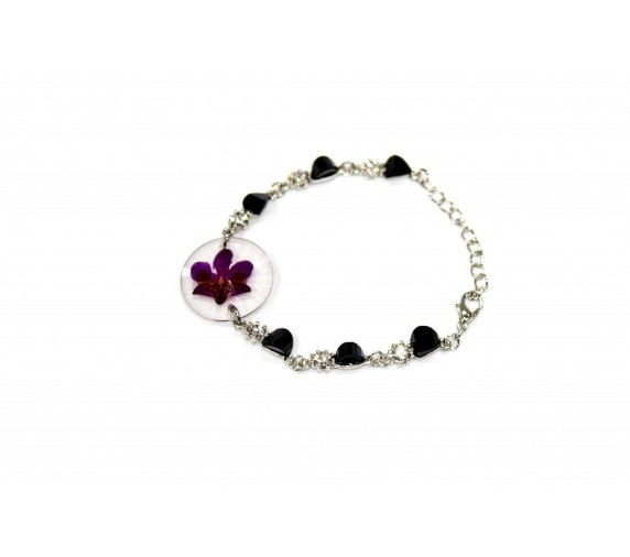 Pressed Orchid Bracelet - Round