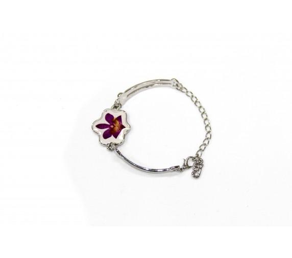 Pressed Orchid Bracelet - Leaf
