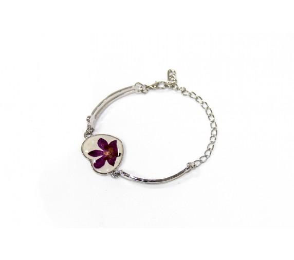 Pressed Orchid Bracelet - Star