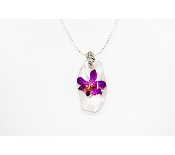 Pressed Orchid Pendant