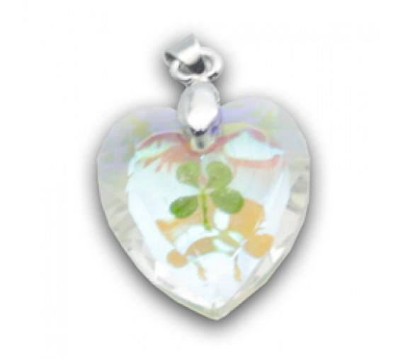 Four Leave Pendant Diamond Cut - Heart