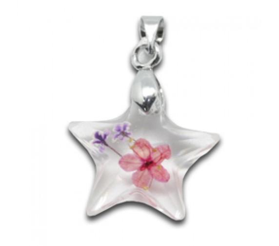 Flora Pendant W Crystal - Star