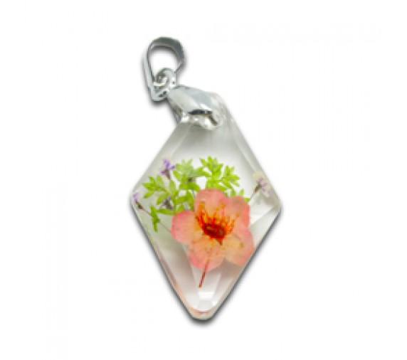 Flora Pendant W Crystal - Diamond