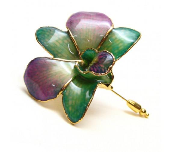 Orchid V-Pin Brooch