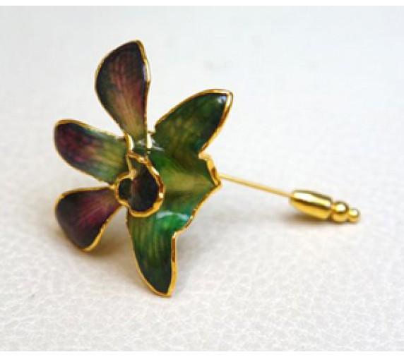 Orchid V-Pin Brooch S