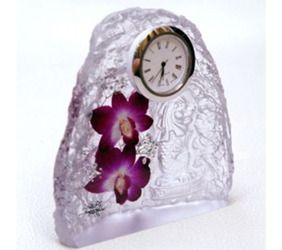 Paperweight Orchid Clock (S)