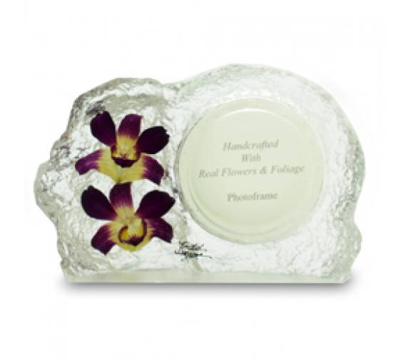 Orchid Photoframe Medium Round