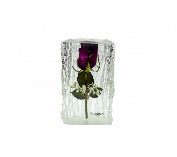 Paperweight Rose Large