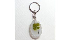 Four Leave Keychain Oval