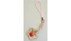 Pressed Orchid Mobile Strap - Flower