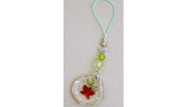 Pressed Orchid Mobile Strap - Tear Drop