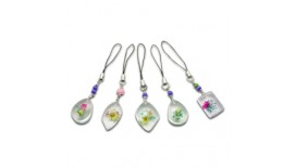 Pressed Orchid Mobile Strap - Assorted