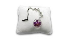 Pressed Orchid Mobile Strap - Rhinestone