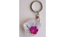 Keychain Orchid - Rock W Merlion