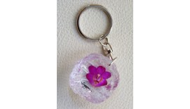 Keychain Orchid - Round
