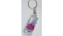 Keychain Orchid - Rectangle W Merlion