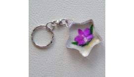 Keychain Orchid - Map W Merlion
