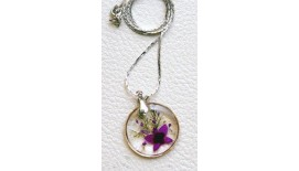 Orchid Pendant - Round