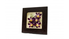 "Pressed Orchid Acrylic Frame 6""X6"""