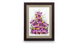 """Pressed Orchid Frame 12""""X16"""""""