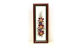 """Pressed Orchid Frame 4""""X 12"""""""