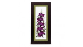 "Pressed Orchid Frame 6""X15"""