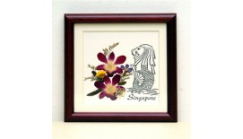 """Pressed Orchid Frame 6""""X 6"""""""