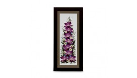"Pressed Orchid Frame 8""X20"""