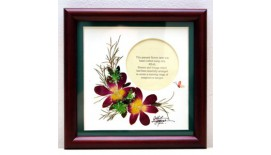 "Pressed Orchid Photo Frame 6""X 6"""
