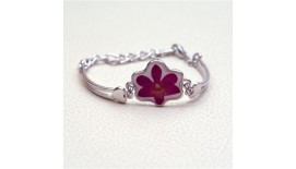 Pressed Orchid Bracelet Flower