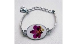 Pressed Orchid Bracelet Oval