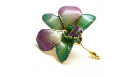 Orchid V-Pin Brooch
