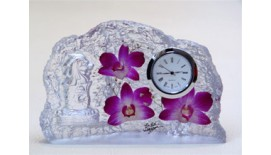 Paperweight Orchid Clock (L)